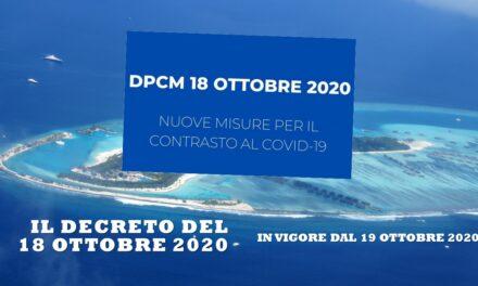 COVID-19 – DECRETO 18 OTTOBRE 2020