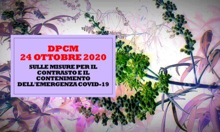 DECRETO DPCM 24 OTTOBRE 2020