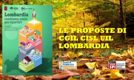 CONFRONTO CGIL CISL UIL REGIONE LOMBARDIA