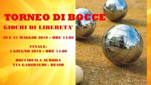 DESIO - GIOCHI DI LIBERETA' 2019- BOCCE