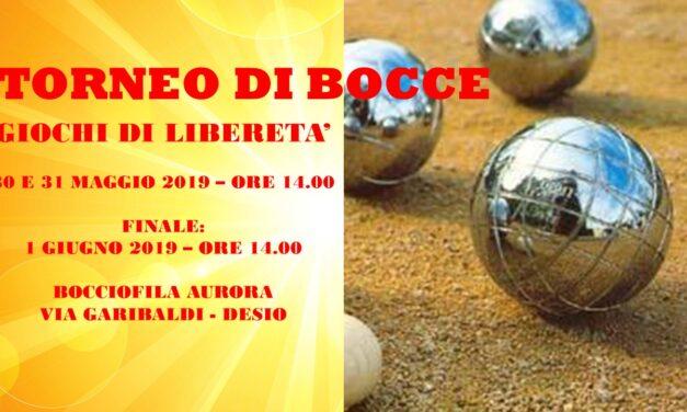 DESIO – GIOCHI DI LIBERETA' 2019- BOCCE
