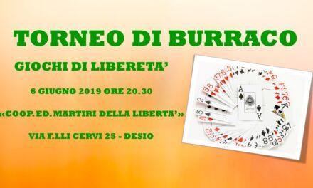 DESIO – GIOCHI DI LIBERATA' 2019- BURRACO