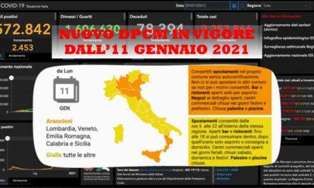 DECRETO IN VIGORE DALL'11 GENNAIO 2021