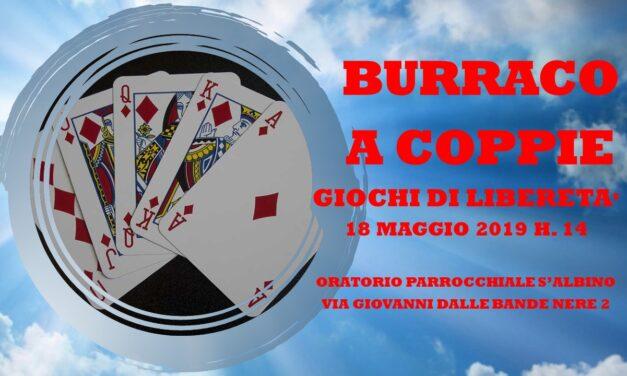 MONZA SANT'ALBINO – GIOCHI DI LIBERETA' 2019- BURRACO