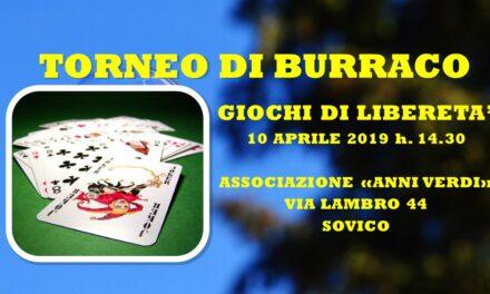 SOVICO – GIOCHI DI LIBERETA' 2019 – TORNEO DI BURRACO