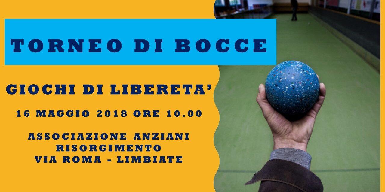 LIMBIATE – GIOCHI DI LIBERETA' 2018 – BOCCE