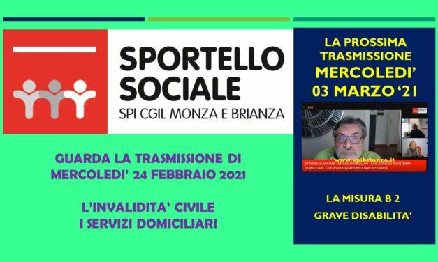SPORTELLO SOCIALE ONLINE – I SERVIZI DOMICILIARI