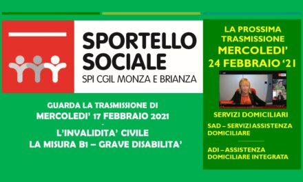 LO SPORTELLO SOCIALE ONLINE – LA MISURA B1 – PER GRAVISSIME DISABILITA'