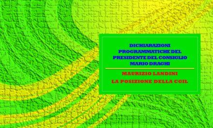 LE DICHIARAZIONI PROGRAMMATICHE DEL PRESIDENTE DEL CONSIGLIO MARIO DRAGHI