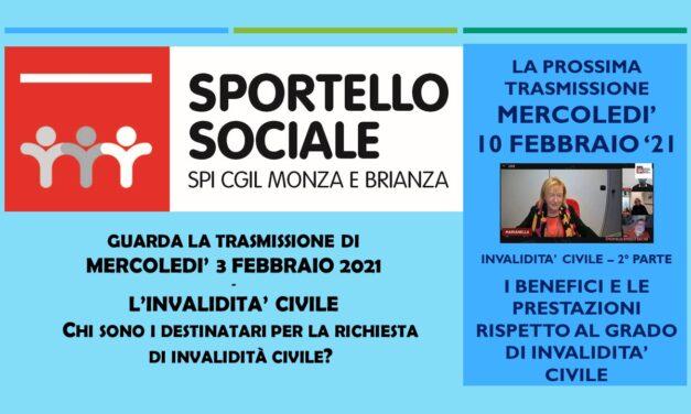 SPORTELLO SOCIALE – L'INVALIDITA' CIVILE