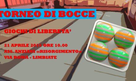 LIMBIATE – GIOCHI DI LIBERETA' 2016 – BOCCE
