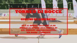 LIMBIATE - GIOCHI DI LIBERETA' 2016 - BOCCE