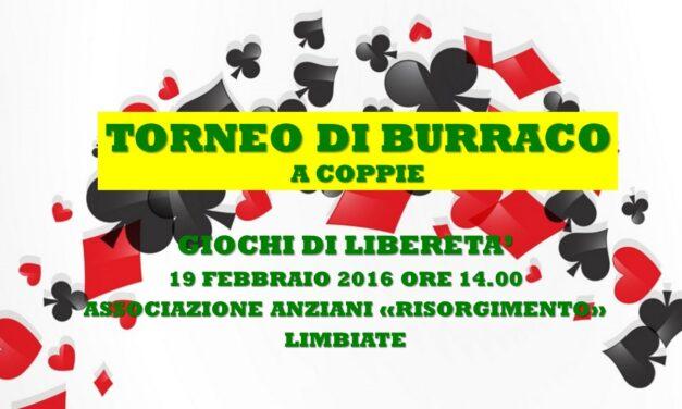 LIMBIATE – GIOCHI DI LIBERETA' 2016 – BURRACO