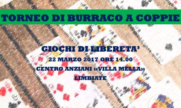 LIMBIATE – GIOCHI DI LIBERETA' 2017 – BURRACO