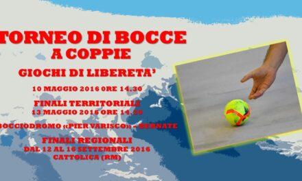 BERNATE – GIOCHI DI LIBERETA' 2016 – BOCCE