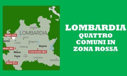 LOMBARDIA – ZONE ROSSE