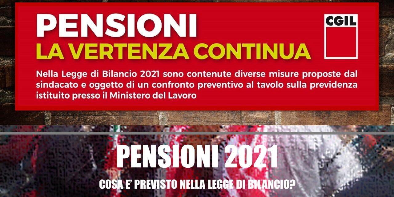 LE PENSIONI NEL 2021