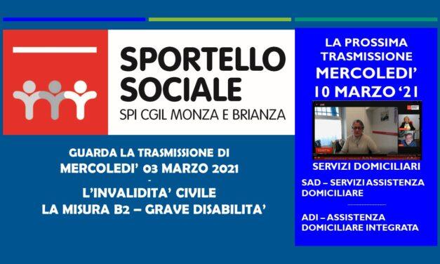 SPORTELLO SOCIALE – MISURA B2 – GRAVI DISABILITA'
