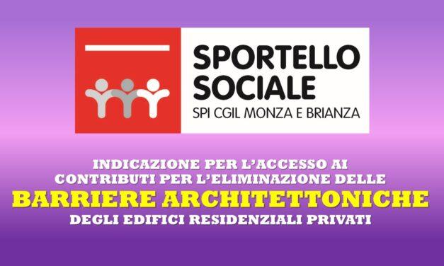 SPORTELLO SOCIALE – BARRIERE ARCHITETTONICHE