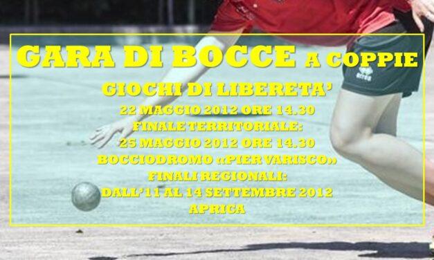 BERNATE – GIOCHI DI LIBERETA' 2012 – BOCCE