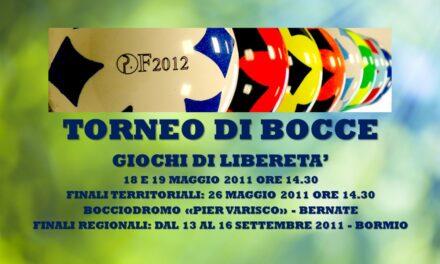 BERNATE – GIOCHI DI LIBERETA' 2011 – BOCCE