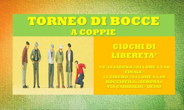 DESIO – GIOCHI DI LIBERETA' 2011 – BOCCE