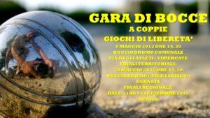 VIMERCATE - GIOCHI DI LIBERETA' 2012 - BOCCE