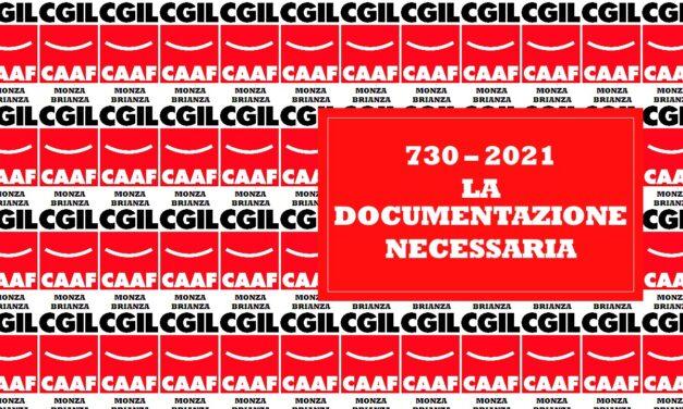 CAAF – APERTURA PRENOTAZIONI 730/2021