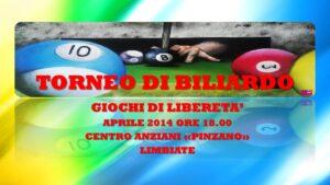 LIMBIATE - GIOCHI DI LIBERETA' 2014 - BILIARDO