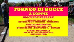 VIMERCATE - GIOCHI DI LIBERETA' 2015 - BOCCE