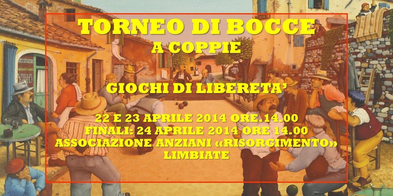 LIMBIATE – GIOCHI DI LIBERETA' 2014 – BOCCE