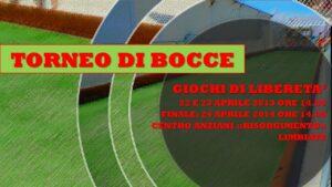 LIMBIATE - GIOCHI DI LIBERETA' 2013 - BOCCE
