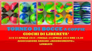 LIMBIATE - GIOCHI DI LIBERETA' 2015 - BOCCE