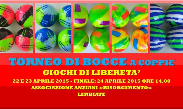 LIMBIATE – GIOCHI DI LIBERETA' 2015 – BOCCE