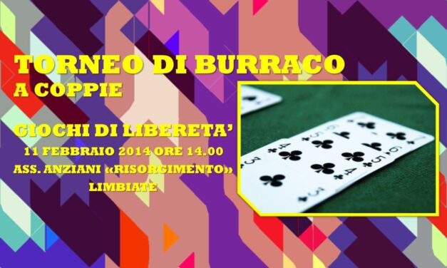 LIMBIATE – GIOCHI DI LIBERETA' 2014 – BURRACO