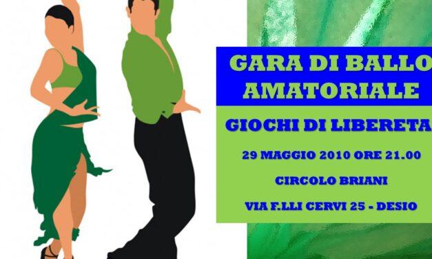 DESIO – GIOCHI DI LIBERETA' 2010 – BALLO