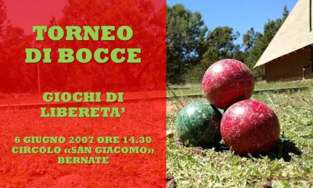 ARCORE BERNATE – GIOCHI DI LIBERETA' 2007 – BOCCE