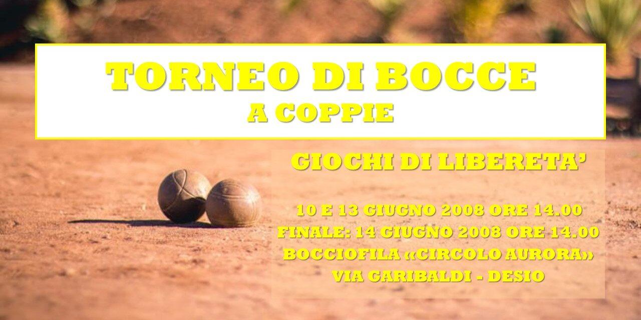 DESIO – GIOCHI DI LIBERETA' 2008 – BOCCE