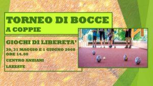 LAZZATE - GIOCHI DI LIBERETA' 2008 - BOCCE