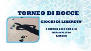LISSONE - GIOCHI DI LIBERETA' 2007 - BOCCE