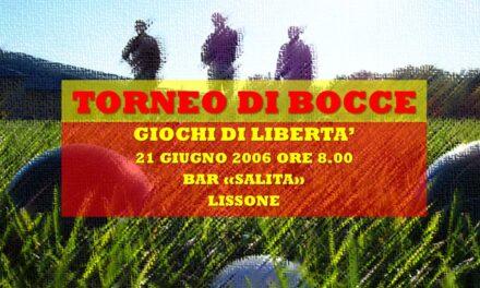 LISSONE – GIOCHI DI LIBERETA' 2006 – BOCCE