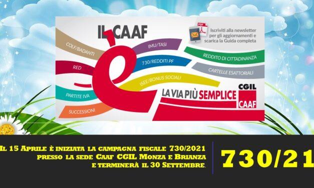INIZIO CAMPAGNA FISCALE 730/2021
