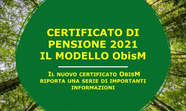 ObsiM 2021 – IL CEDOLINO PENSIONI