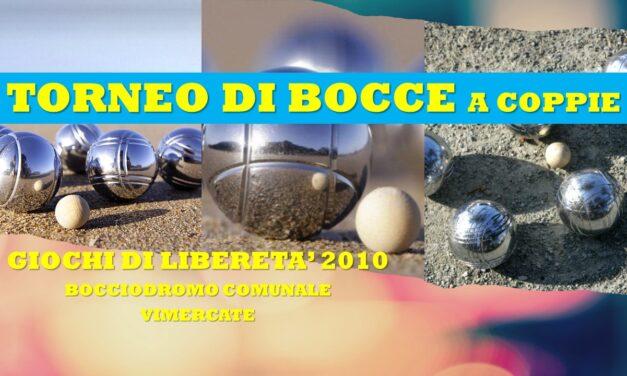 VIMERCATE – GIOCHI DI LIBERETA' 2010 – BOCCE