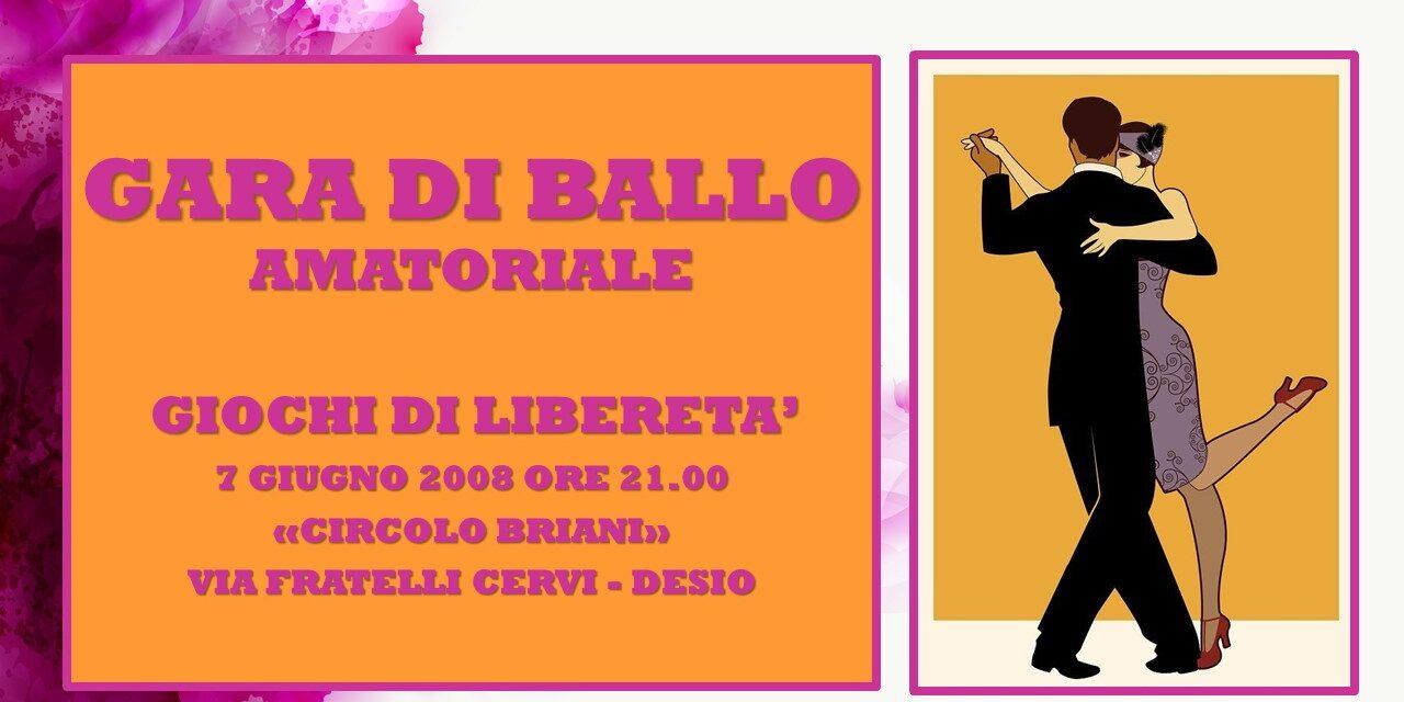 DESIO – GIOCHI DI LIBERETA' 2008 – BALLO