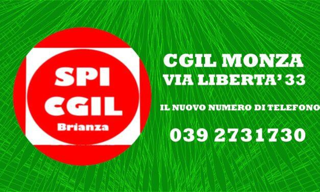 CGIL MONZA VIA LIBERTA' – CAMBIO NUMERO DI TELEFONO