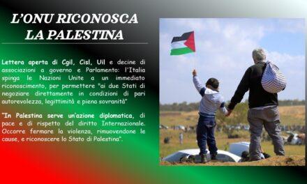PALESTINA – L'ONU RICONOSCA LO STATO DI PALISTINA