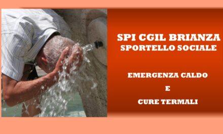 SPORTELLO SOCIALE – EMERGENZA CALDO – CURE TERMALI