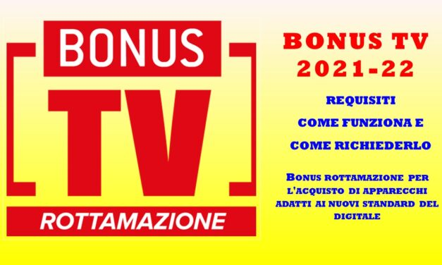 BONUS TV COME FUNZIONA
