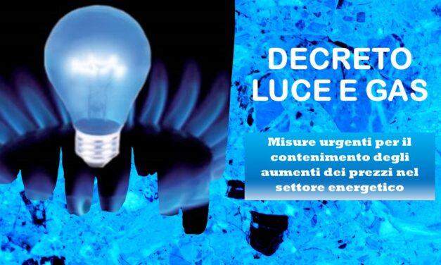 PUBBLICATO IL DECRETO ENERGIA